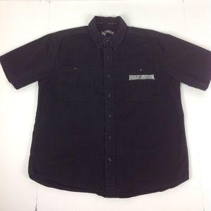 Harley Davidson Button Front S/S Shirt Men's L